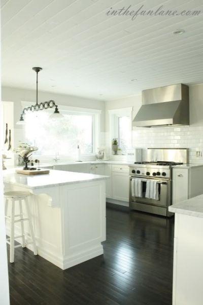 martha stewart white kitchen The Martha Stewart Ox HIll cabinetry looks gorgeous in