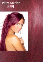 plum merlot hair color