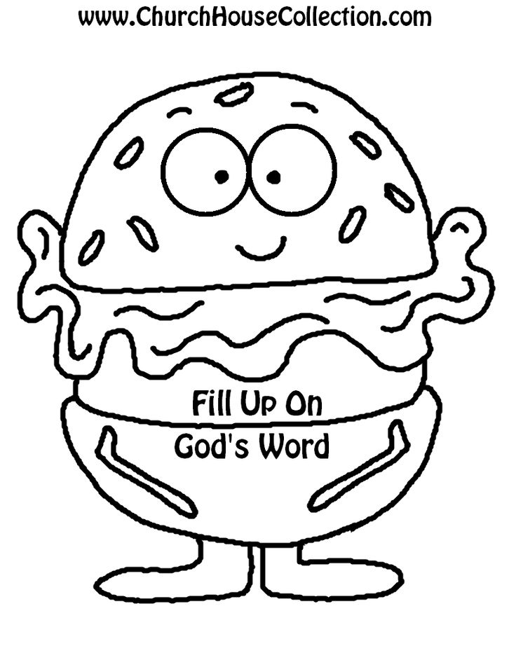 Church House Collection Blog: Hamburger Printable Cutout