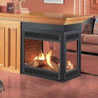Napoleon Direct Vent Peninsula Bay Front Fireplace # ...