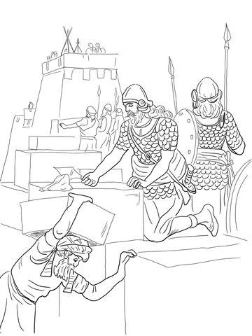 Rebuilding Jerusalem while guarding against attacks