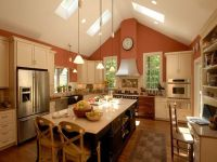 kitchens with vaulted ceilings | charming vaulted ceiling ...