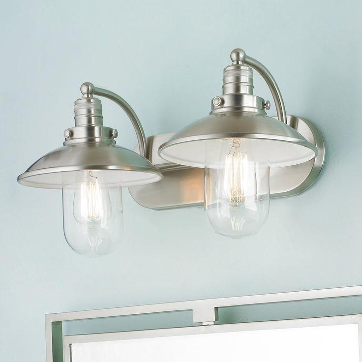 Retro Glass Globe Bath Light  2 Light  Bathrooms decor