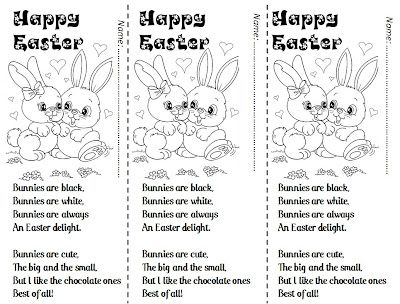 Enjoy Teaching English: EASTER sweet little poems for