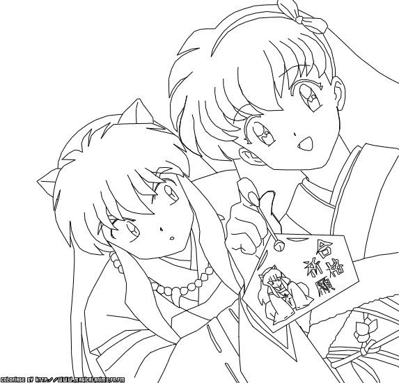 40 best images about inuyasha coloring pages on Pinterest
