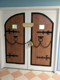 For castle theme classroom - castle doors are made from ...