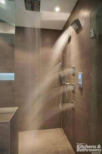 Shower with multiple jets and rain shower | Bathrooms ...