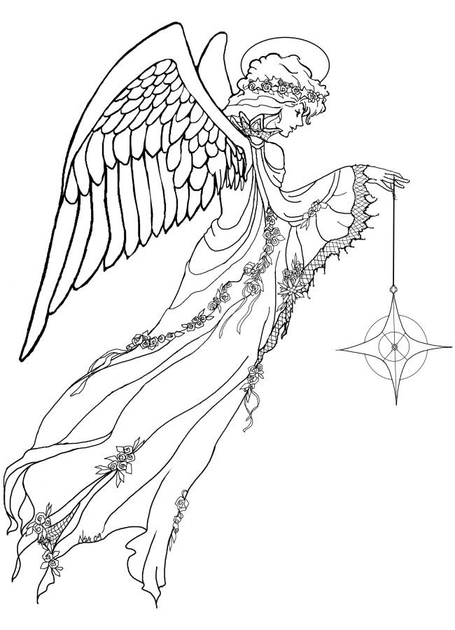 1000+ images about Coloring Pages *Angels on Pinterest