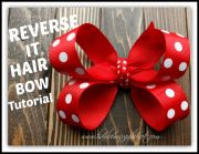 reverse hair bow tutorial