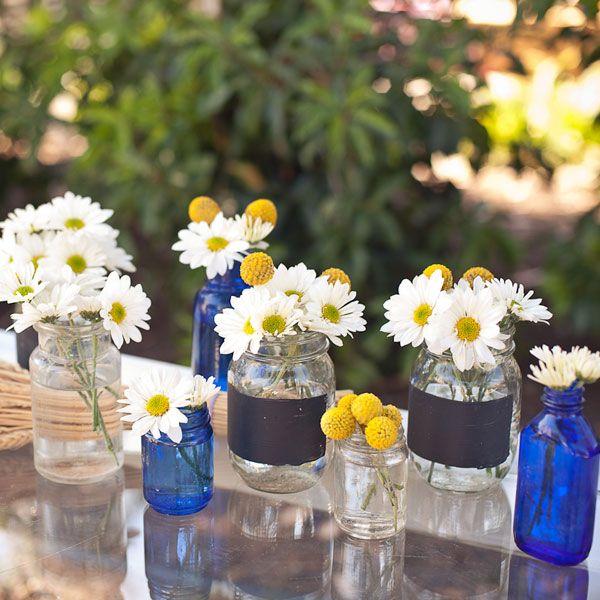 SouthernThemed Bridal Shower  Jars Shower centerpieces