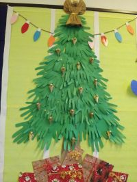 Paper Hands Christmas Tree | Bulletin Board and Door ...