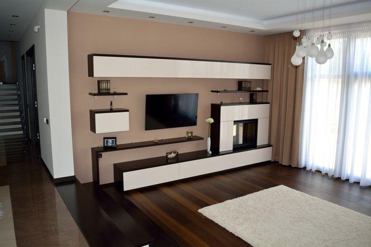 interior design ideas living room tv unit speakers mobilier modern cu semineu inclus si polite din pal ...
