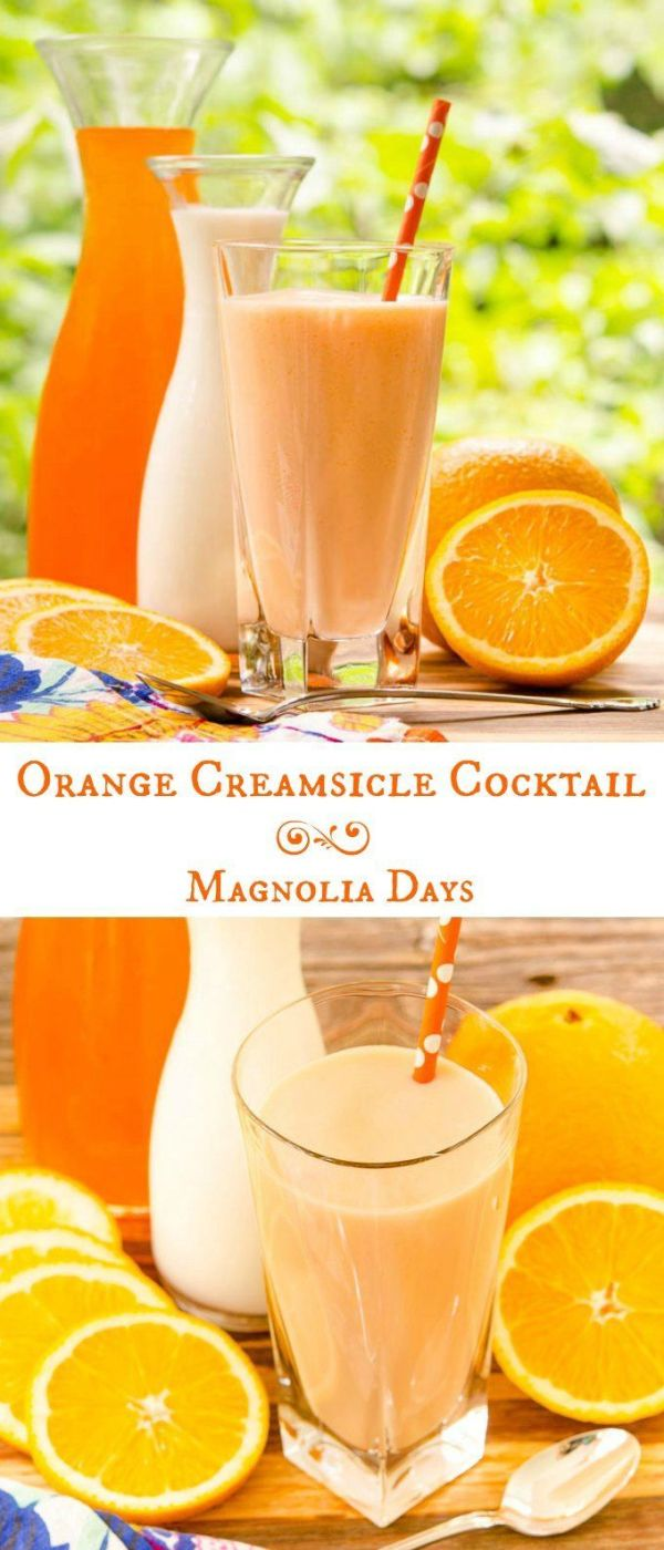Orange Creamsicle Cocktail Recipe Summer Classic and