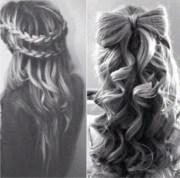 bow hairstyle . curls hair