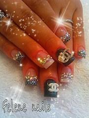 coach nails bling