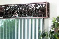 Faux Wrought Iron Cornice Window Treatment by tvonschimo ...