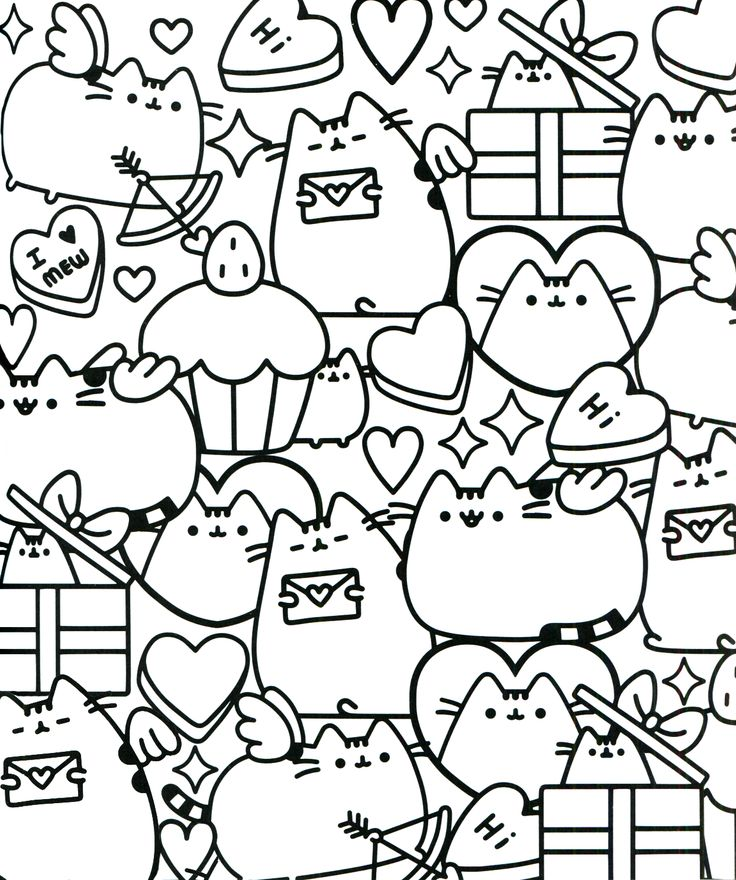 Pusheen Cat Unicorn Coloring Page Sketch Coloring Page