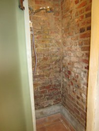 brick shower | Bathroom Remodel - take 2 | Pinterest ...