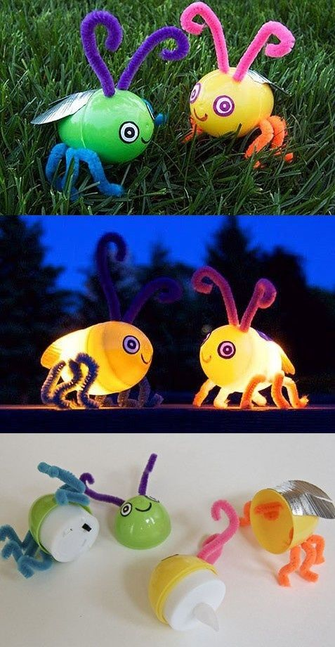 Check out this awesome Light-up Firefly Craft! Great for summer night-time fun o