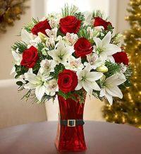 25+ best ideas about Christmas floral arrangements on ...