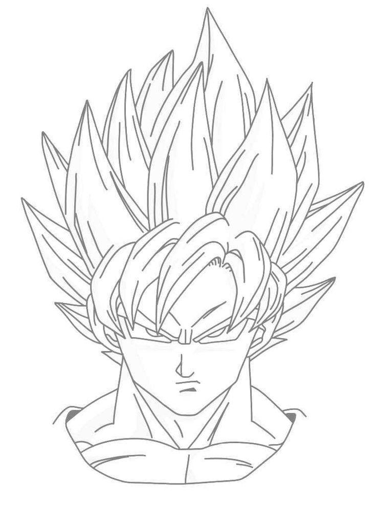 Drawing Goku Super Saiyan From Dragonball Z Tutorial Step 10
