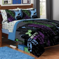 NEW TEEN GUITAR ROCK STAR FULL/QUEEN 3pc COMFORTER SET