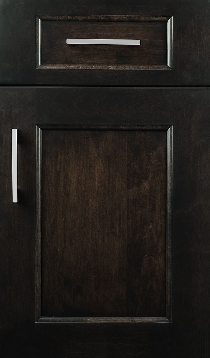 Vogue door style on Maple with Peppercorn finish Black