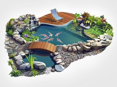 Artificial Pond  Gardens By and On