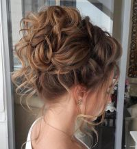 25+ best ideas about Messy curly bun on Pinterest | Curly ...