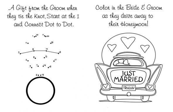 Cant forget the kids  wedding activity book black coloring book diy inspiration kids