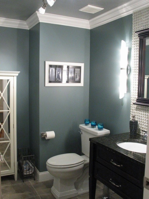 bathroom paint idea Benjamin Moore Smokestack Grey. love this color!
