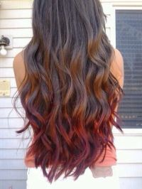 Brown hair red ombr | My Style | Pinterest | Natural ...
