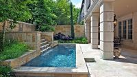 small screened in lap pools | Small garden/patio with lap ...