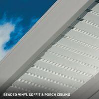 Vertical siding. Beaded Vinyl Soffit & Porch Ceiling