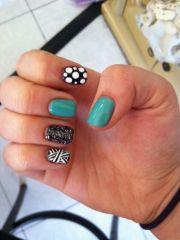cute multi design nail art gel