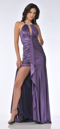 Sexy Form Fitting Purple Formal Dress Full Length ...