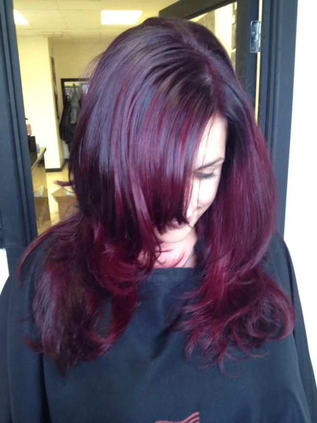 Wella Burgundy Hair Color