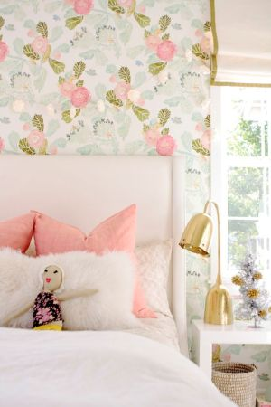 bedroom wallpapers wall rooms bedrooms pretty decor floral owens davis watercolor peony nursery holiday pink chic interior decorating paper accent