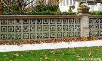 Decorative Brick Fence | fences brick column decorative ...