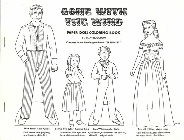 RALPH HODGDON GONE WITH THE WIND & TWO OTHER PAPER DOLL