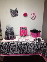 Pink and zebra baby shower decorations | Pink and zebra ...