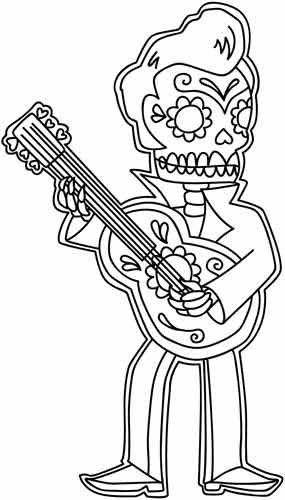 17 Best images about Coloring Pages (Skulls) on Pinterest