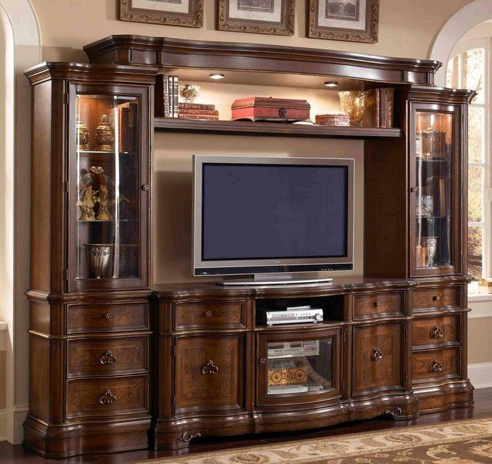 4 pc Florenza II collection dark wood finish TV