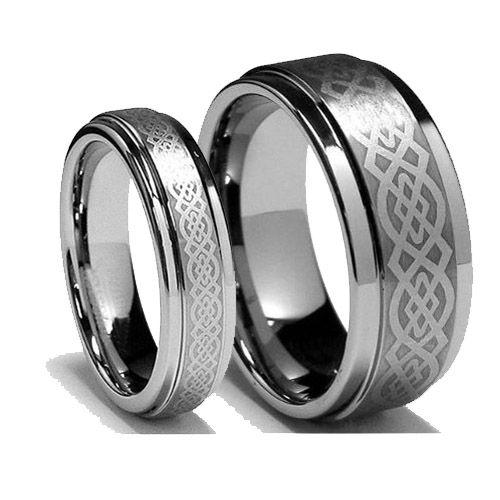 Celtic Knot Titanium Ring Wedding Couple Ring Titanium