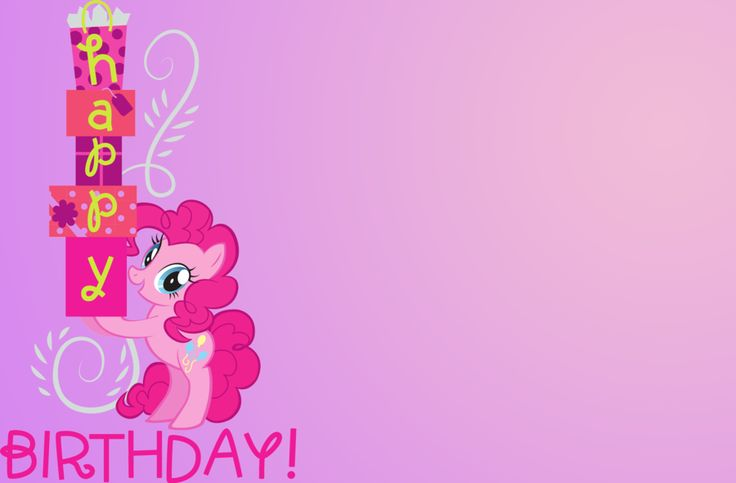 My Little Pony Birthday Card Party Planning Pinterest