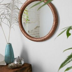 Hanging Chair Urban Outfitters Genuine Leather Office Magical Thinking Metal Snake Eternity Mirror | Outfitters, Round Mirrors And Metals