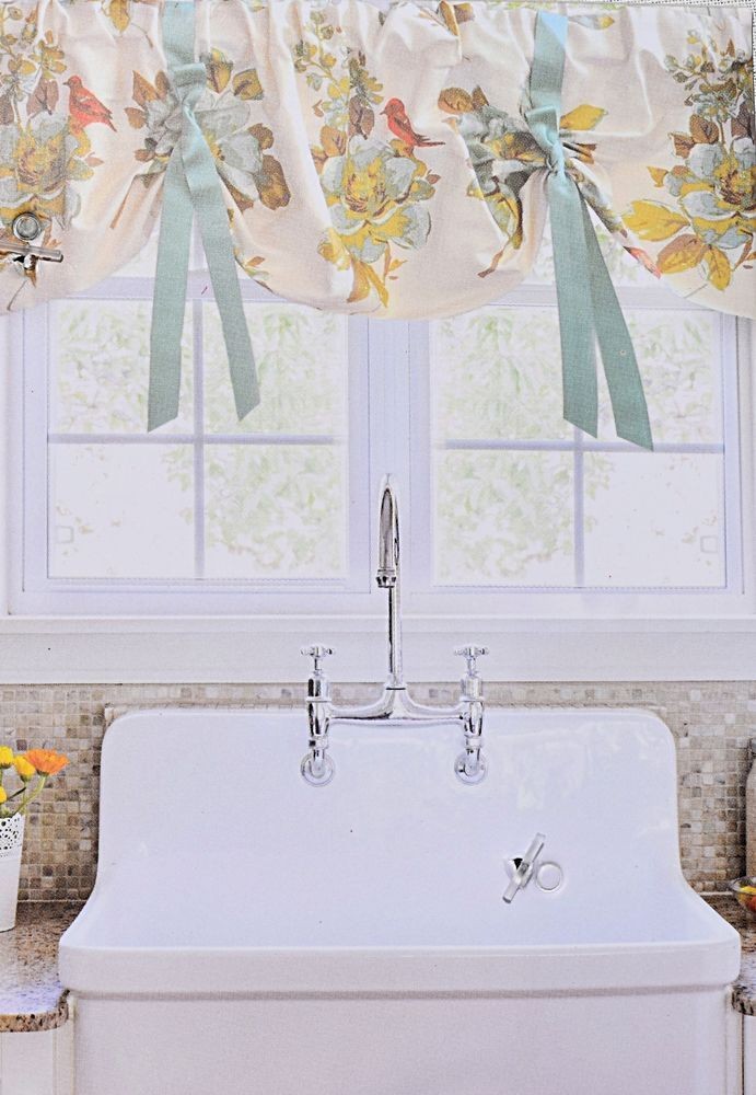 ENVOGUE French Country Lined Kitchen Window Valance 54