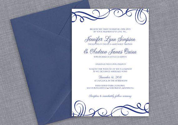 free wedding invitation templates royal blue matik for. Black Bedroom Furniture Sets. Home Design Ideas