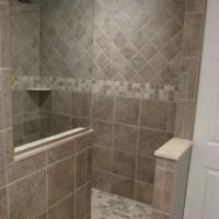 walk in shower designs no door | Traditional Bathroom walk ...
