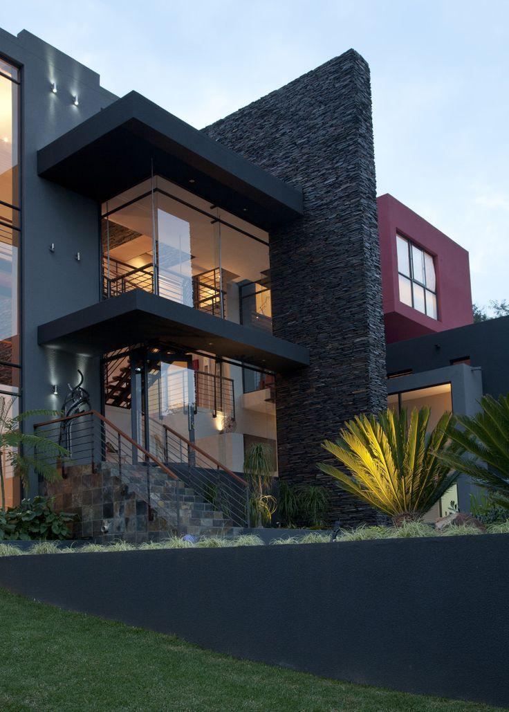 1000 ideas about Modern House Facades on Pinterest  House facades Modern houses and Narrow house